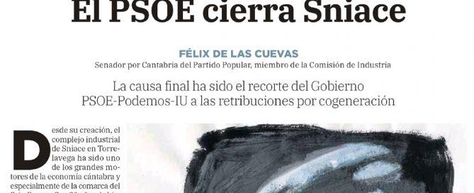 El PSOE cierra SNIACE, Felix de las Cuevas