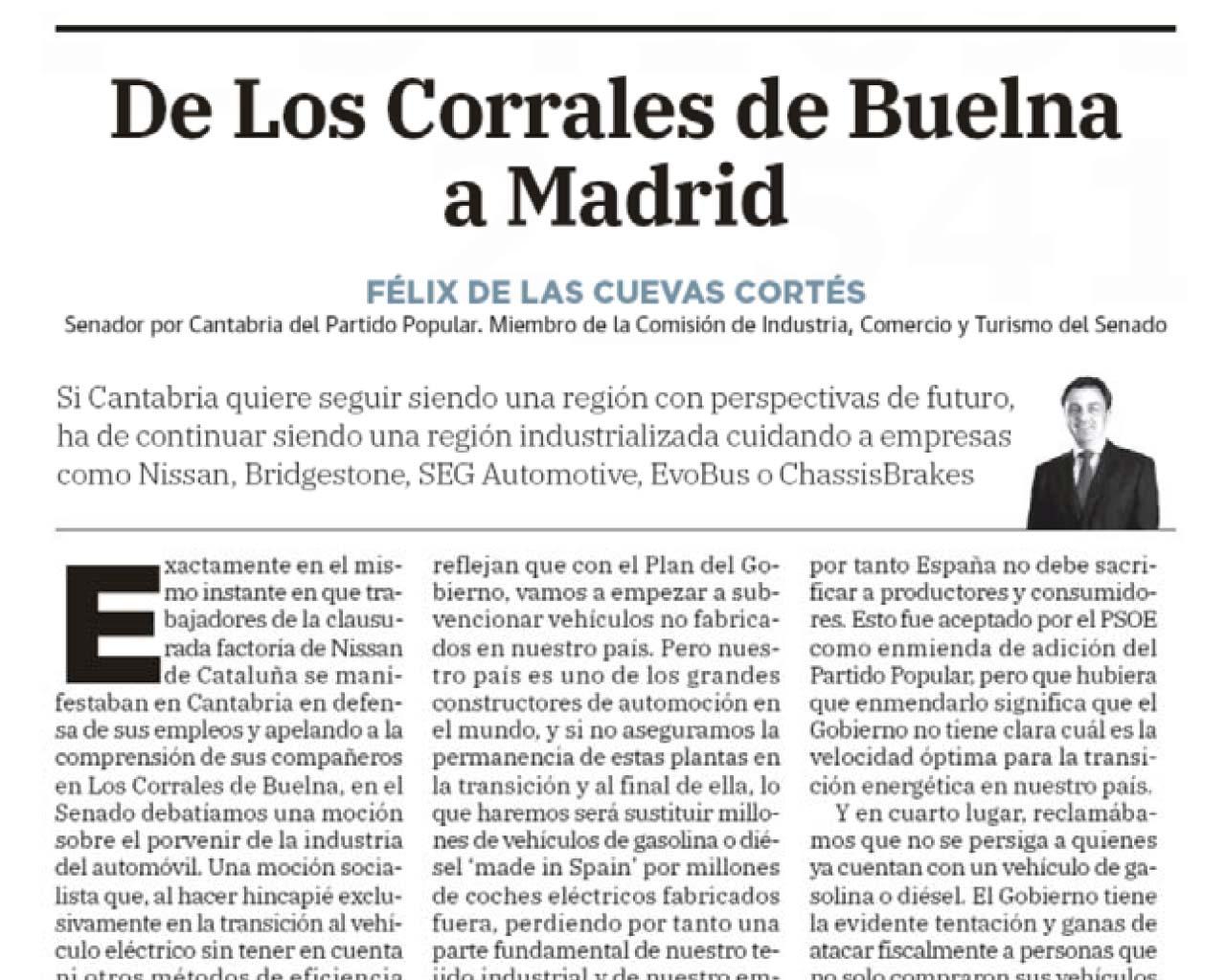 De Los Corrales de Buelna a Madrid
