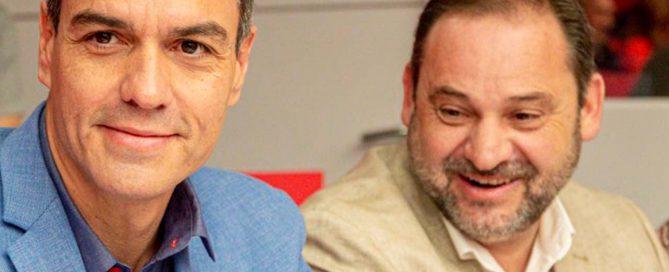 Pedro Sánchez y Ábalos. Imagen de Europa Press