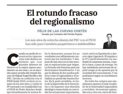 EL ROTUNDO FRACASO DEL REGIONALISMO