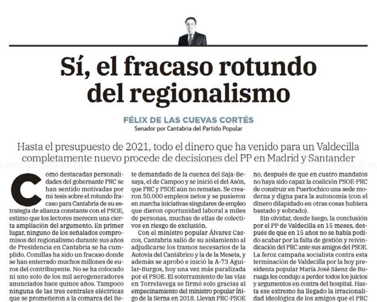 Sí, el fracaso rotundo del regionalismo