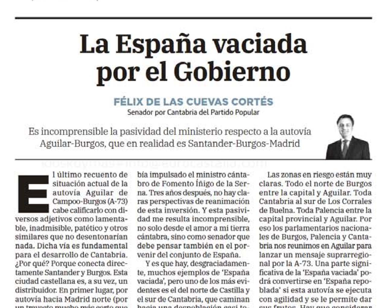 La España vaciada por el Gobierno