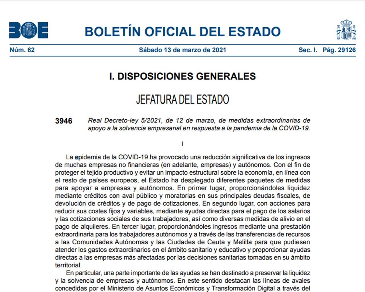Real Decreto-ley 5/2021