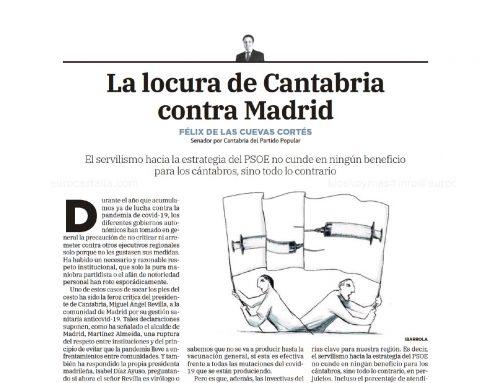LA LOCURA DE CANTABRIA CONTRA MADRID