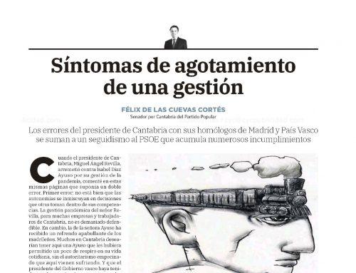 SÍNTOMAS DE AGOTAMIENTO DE UNA GESTIÓN
