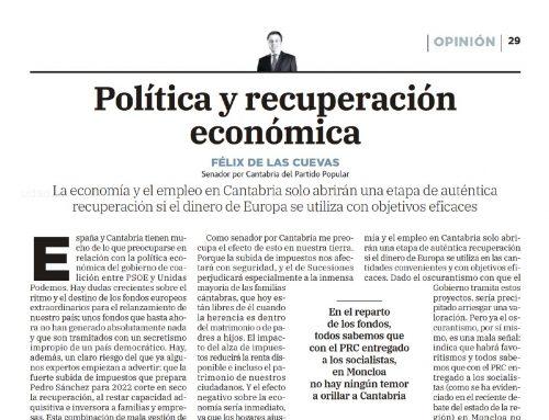 POLÍTICA Y RECUPERACIÓN ECONÓMICA